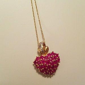 Jewelry - NWOT - GENUINE RUBY & 10K NECKLACE